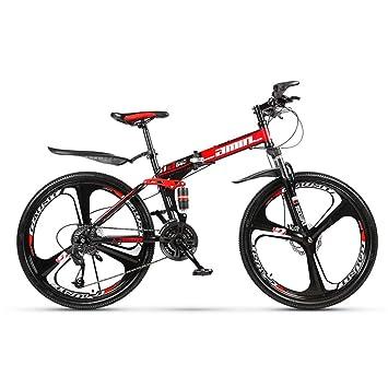 Grimk Bicicleta Montaña Plegable para Adultos Rueda De 26 Pulgadas Bici Mujer Folding City Bike Velocidad única,Manillar Y Sillin Confort Ajustables ...