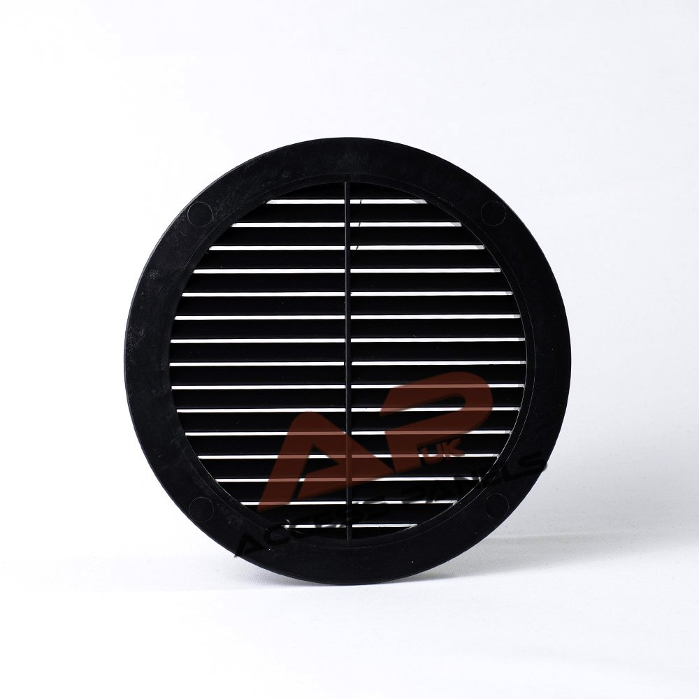 Circle Air Vent Grille Cover BLACK 100mm (4') Ducting Ventilation Grill Cover Access Panels UK