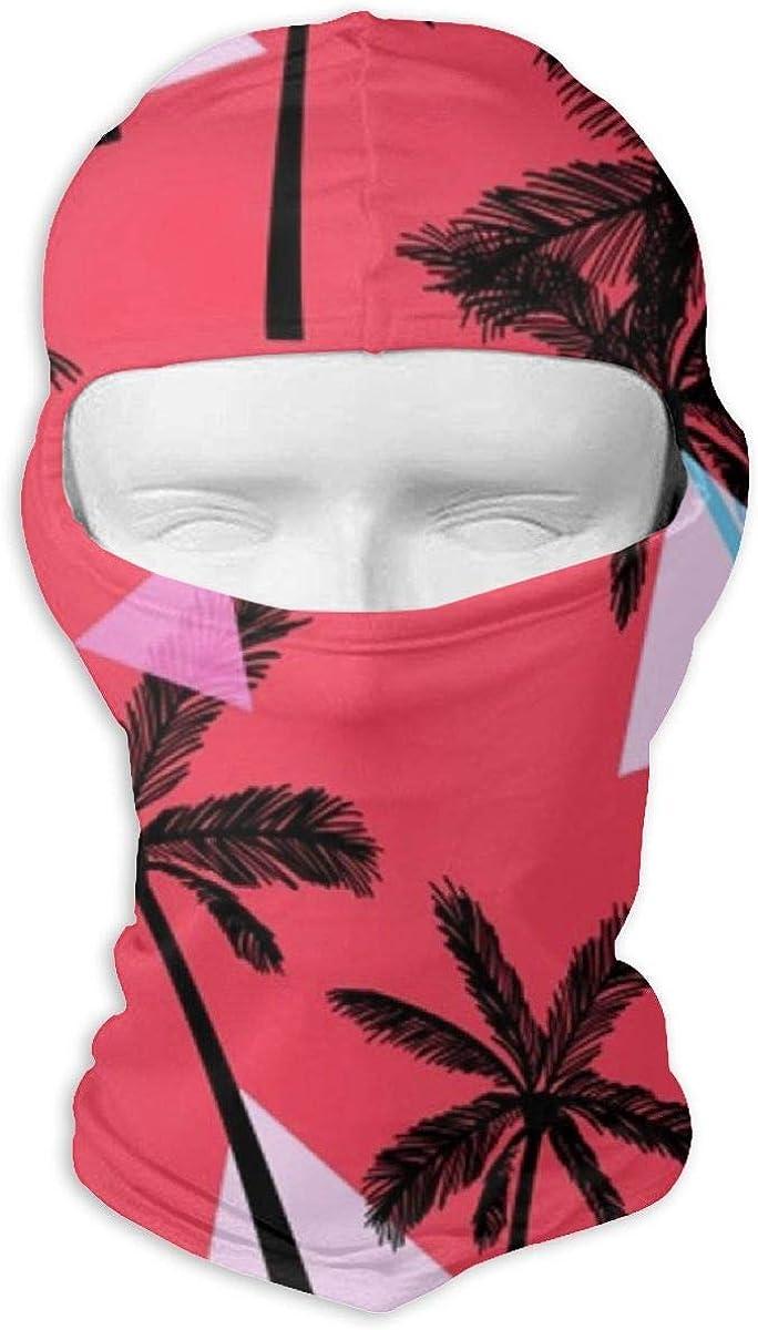 CAClifestyle Elegant Tropical Coconut Tree Pattern Unisex Windproof Balaclavas Full Face Mask Hood