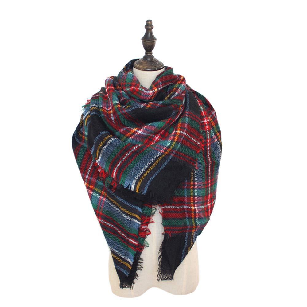 87104409145b8e Mindbreaker Coprispalle a quadri scozzese Sciarpa a portafoglio con scialle  grande a quadretti Sciarpa calda in
