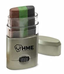 This image shows the HME Products 3 Color Camo Face Paint Stick hunting gear stocking stuffer idea.