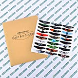 eXtremeRate Light Bar Decal Stickers Set of 30 Different Pcs for PS4 Playstation 4 PS4 PS4 Slim PS4 Pro Controller - Color Prints Game Theme Mix Stickers ?New