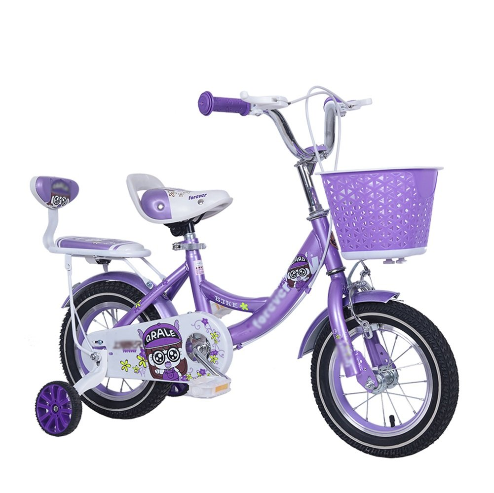 子供の自転車の少年少年のベビーカー2-10歳の子供の自転車12 14 16 18インチの自転車ピンクパープル B07DWKWCVN 16 inch|パープル ぱ゜ぷる パープル ぱ゜ぷる 16 inch