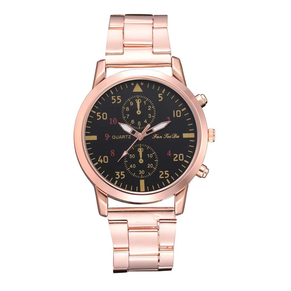 chengzhijianzhu_ Quartz Watches Men's 2019 Newest Ladies Quartz Steel Strip Watch Strap Analog Slim Dial Watch Watches for Men Teen Girls Boys Ladies