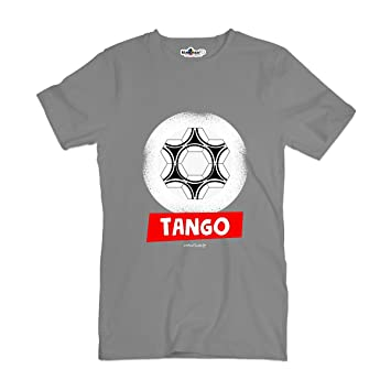 Camiseta T-shirt parodia Vintage Creation Tango Balón Fútbol Juegos divertimen, Grey Heather
