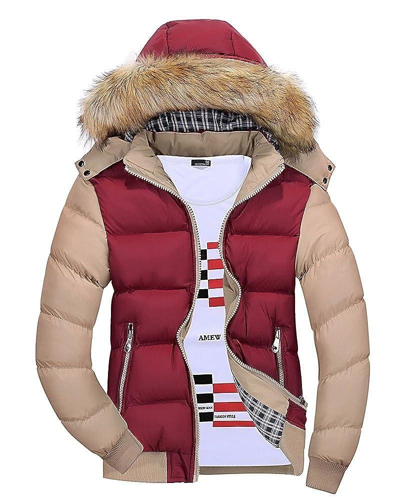 Mantel Herren Winter Warm Jacke Pelz Liner Revers Lederjacke