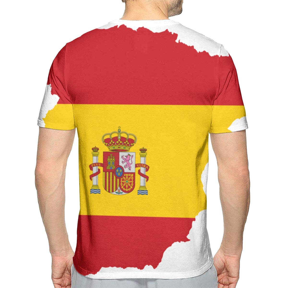 Mapa de España Moda Hombre Cuello Redondo Diseño Manga Corta Slim ...