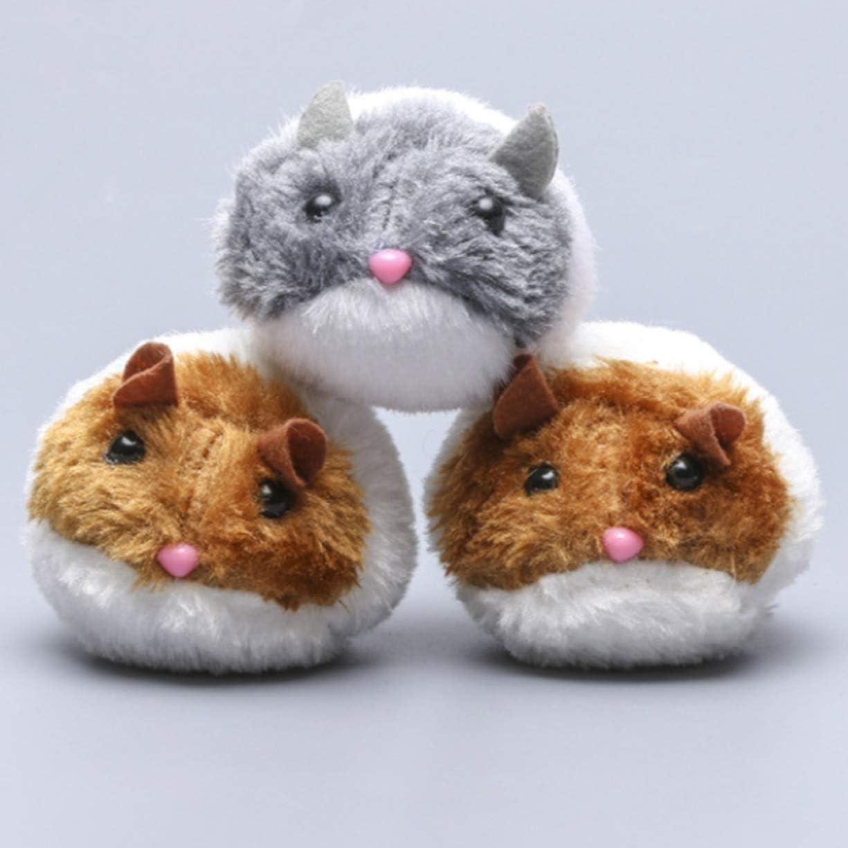 Gecheng Mascotas Bonitas,Ratones gordos,Ratones,Gatos,Pelucas,Juguetes de Voz,Ratones eléctricos.(None A): Amazon.es: Juguetes y juegos