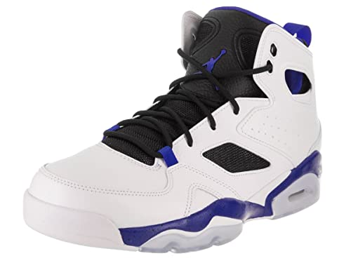 4c938a73f28 Jordan Nike Men s FLTCLB  91 White Hyper Royal Black Basketball Shoe 9.5 Men