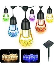 Cadena de Luces, YWTESCH Luz Solar de Cadena 12 LEDs Multicolor Guirnarldas de Luz Cálida LED Luces del Efecto Estrellado para Navidad, Fiestas, Bodas, Patio, Festivales,etc (5.3M)