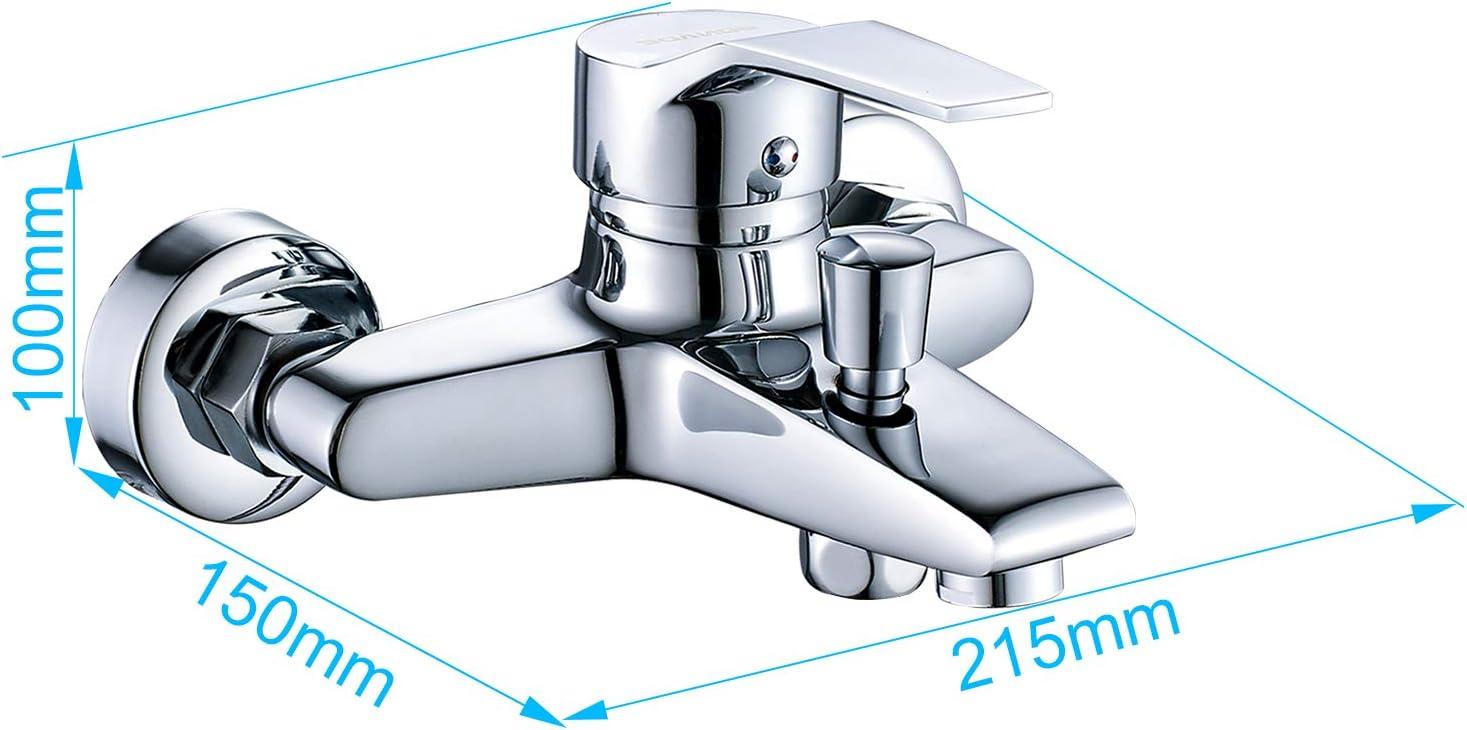 WOOHSE 5 modos Grifo Mezclador Exterior Para Ducha y Baño Con ...