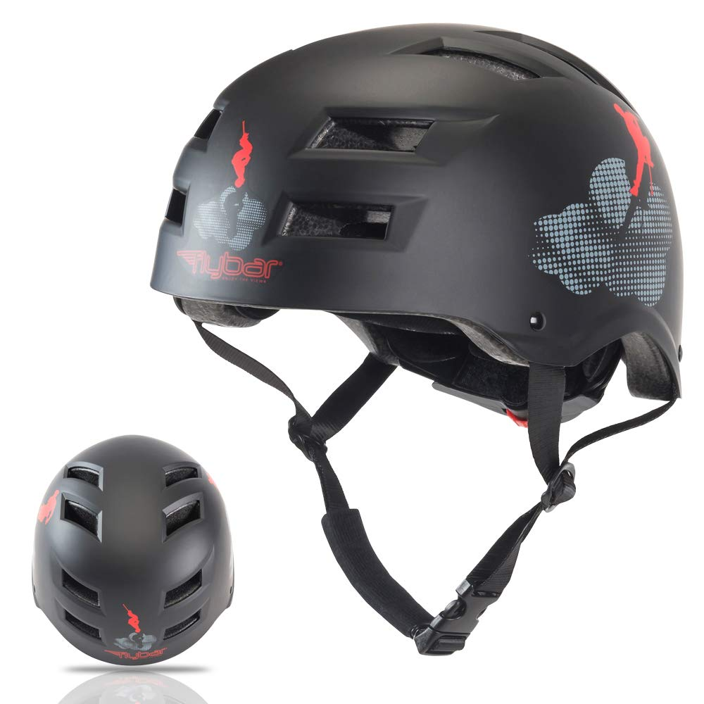 Flybar Dual Certified CPSC Multi Sport Kids and Adult Bike And Skateboard Adjustable Dial Helmet, S/M, Cloud Formations