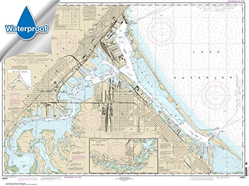 Paradise Cay Publications NOAA Chart 14975: Duluth-Superior Harbor; Upper St. Louis River 35 x 46.7 (WATERPROOF)