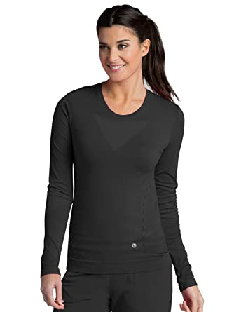 59301737a7f Amazon.com: Barco ONE Crew Neck Long Sleeve Tee for Women - Seamless ...