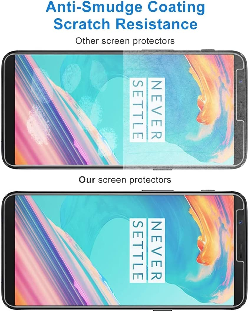 YINZHI Screen Protector Film 100 PCS for Oneplus 5T 0.26mm 9H Surface Hardness 2.5D Explosion-Proof Tempered Glass Non-Full Screen Film Clear