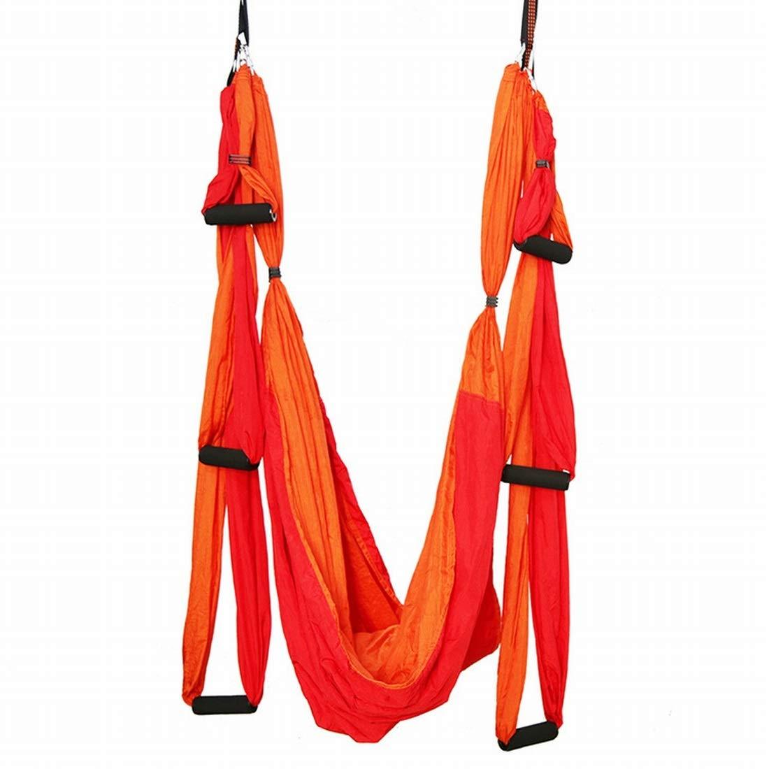 Klerokoh Reverse Gravity Aerial Yoga H/ängematte Multifunktions-Outdoor-Fallschirm-Stoffh/ängematte mit Aufh/ängeplatte und Verl/ängerungsgurt Color : Deep Purple