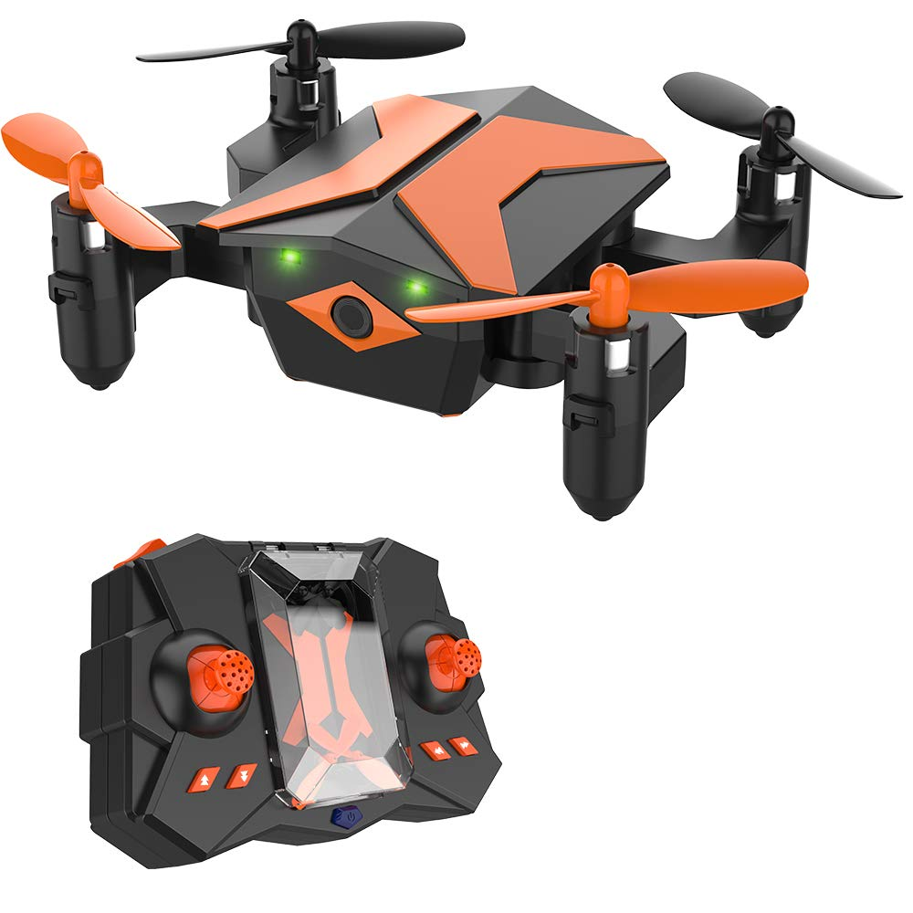 Mini Drone for Kids, RC Helicopter Portable Foldable Drone for Beginners RC Quadcopter w/One Key Take Off, Headless Mode, Altitude Hold, 3D Flip, 2.4Ghz 6-Axis Gyro, Great Gifts for Kids - X Pack 2 by Attop