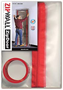 ZipWall ZipDoor Standard Door Kit for Dust Containment, ZDS