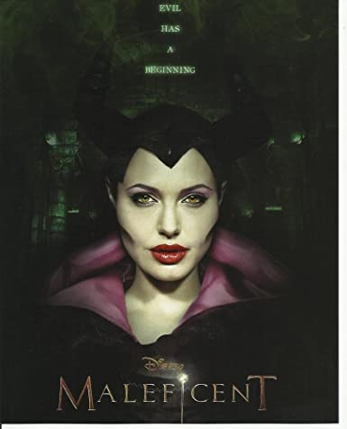Maleficent Movie Poster Art On 8 X 10 Photo With Angelina Jolie 2 Evil Has A Beginning