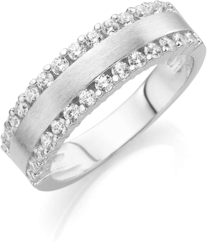 Smart Jewel Ring Elegant, Matte Schiene 925 Sterling Silber