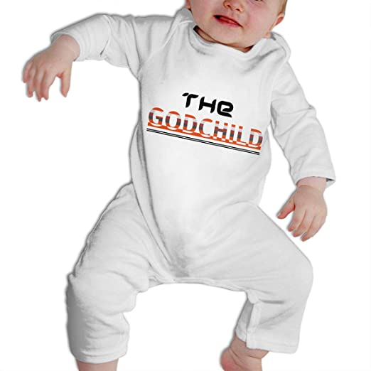 1cce7b27f0e3 Amazon.com  SARA NELL Baptism Gifts Christening The Godchild Baby Bodysuit  Jumpsuit Onesies Long Sleeve  Clothing