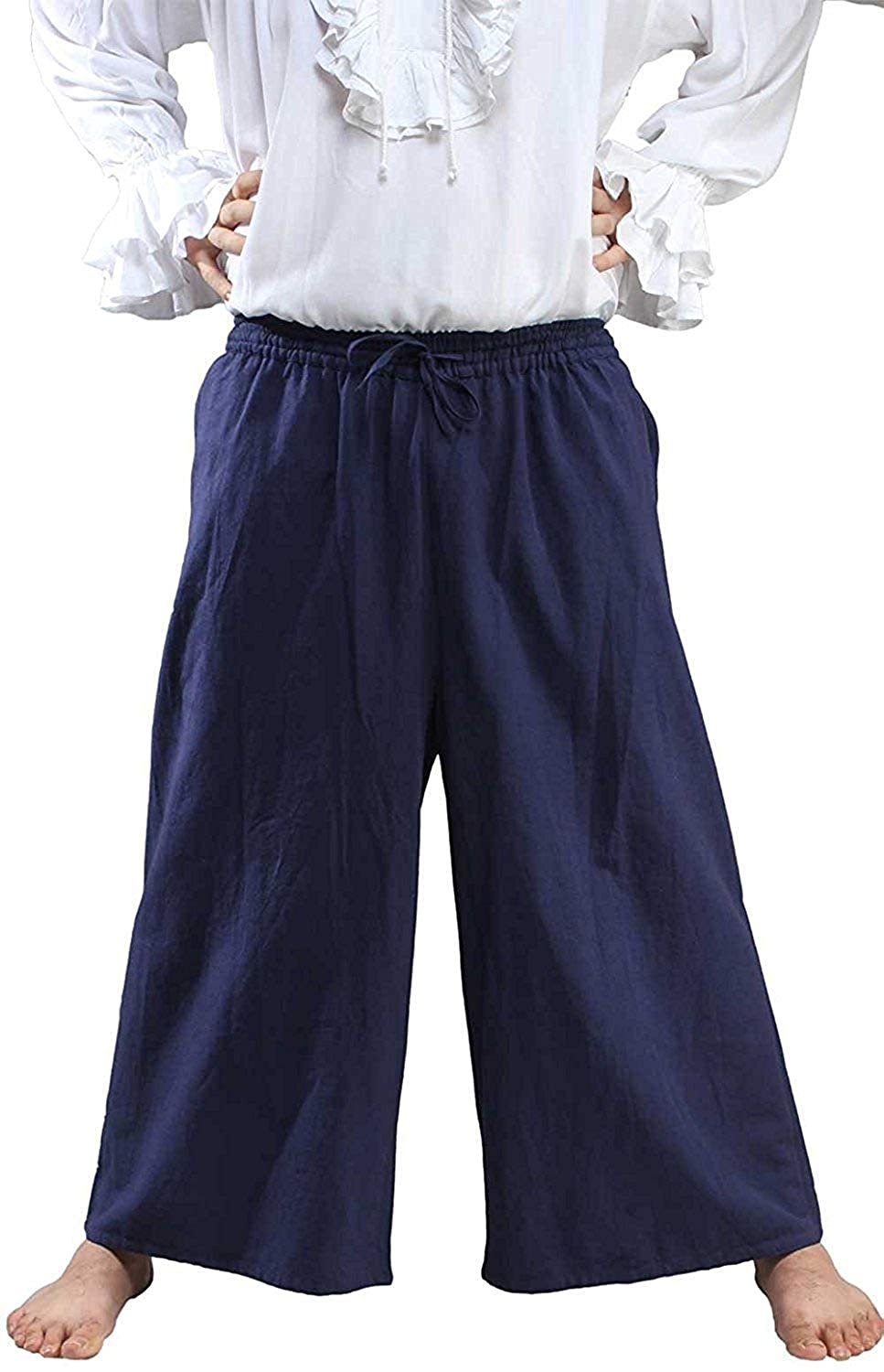 Medieval Pirate Renaissance Poet Cosplay Costume Draw String Pants C1175 C1175-Parent