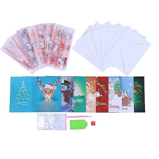 Decdeal 5D Diamante Pintura Tarjetas de Navidad Bordado de ...