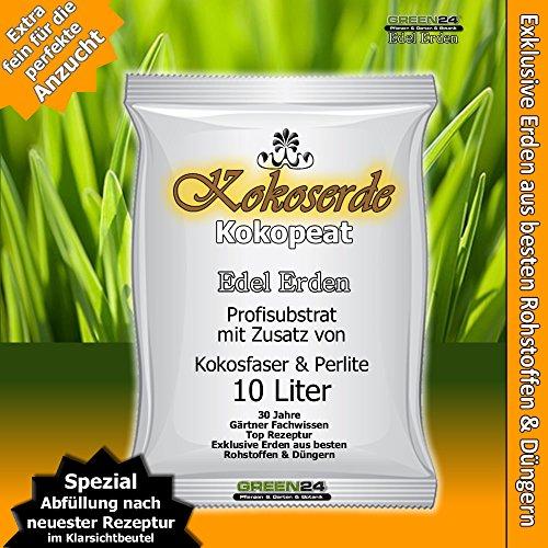 Kokos-Anzuchterde Premium für tropische und subtropische Pflanzen, Erde zur Aussaat 10 Ltr. - PROFI LINIE Substrat mit Kokopeat Kokosfaser Kokoserde