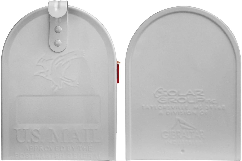mit Motiv Drei Waschb/ären BANJADO US Mailbox Amerikanischer Briefkasten 51x22x17cm inklusive silbernem St/änder Letterbox Stahl Gr/ün