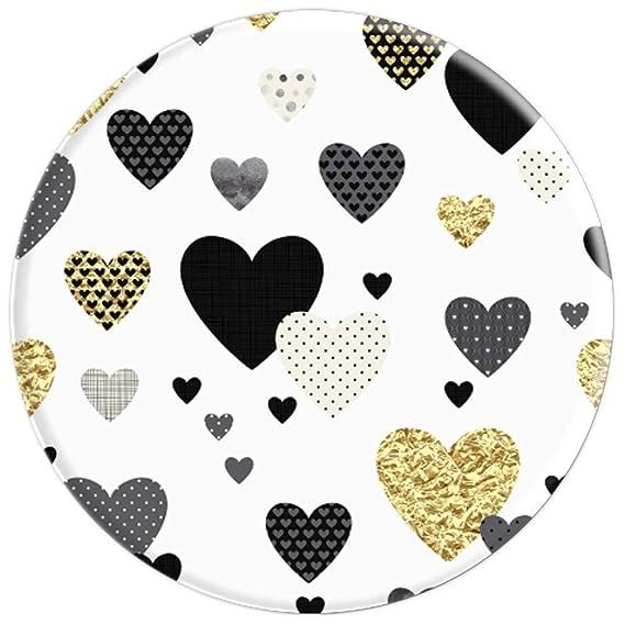 Amazon.com: Patrón de corazones con forma de corazón, color ...