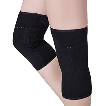 ca7fad18586 Non-slip Knee Support Sleeve Stretchy Thermal Knit Knee Warmer Pad Brace  Support Band Wrap