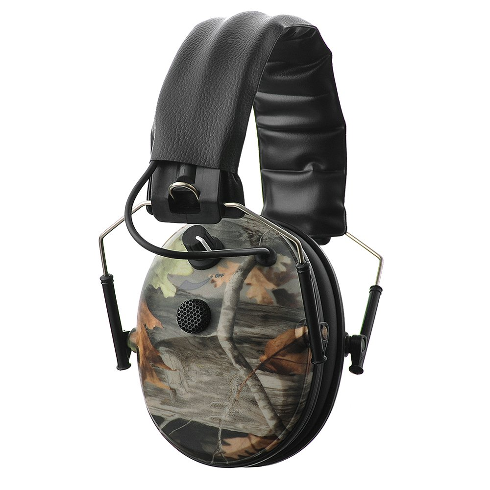 PROTEAR Sound Amplification Electronic Shooting Earmuff with Single Microphone - NRR 24dB Gun Range Hearing Protection Ear Muffs,Professional Noise Reduction Headphones for Hunting,Classic Camo