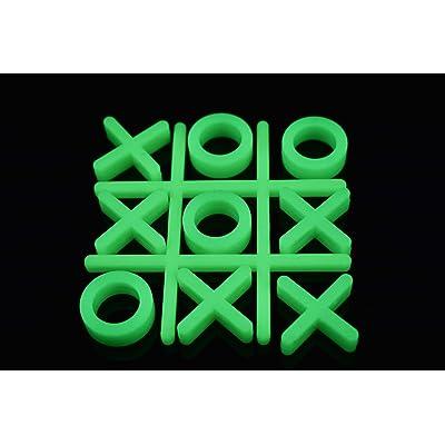 10 Piece Glow in The Dark Tic Tac Toe Game Set: Home Improvement