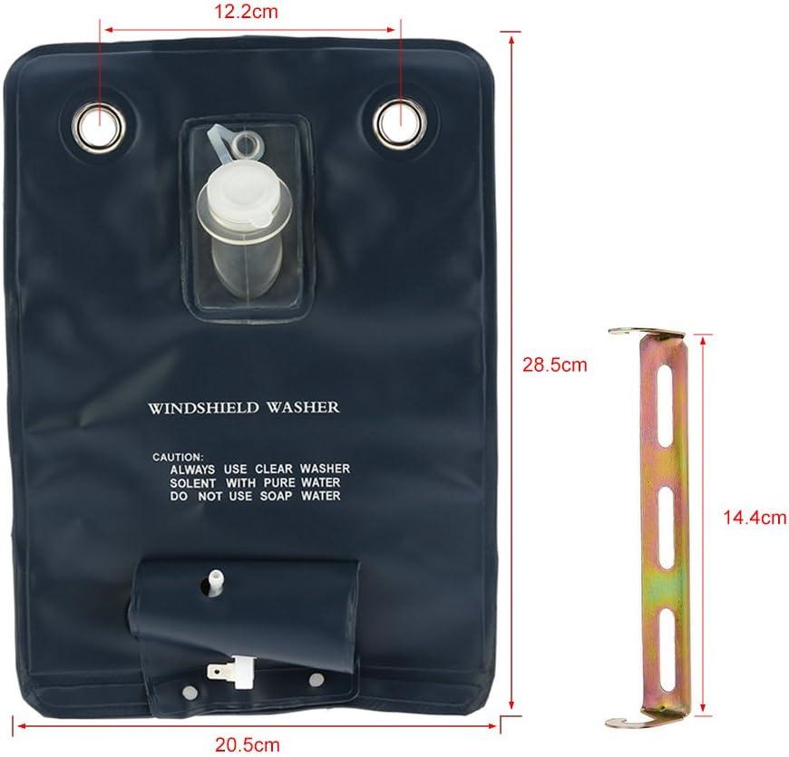 KKMOON 12V Universal Windschutzscheibe Unterlegscheibe Pumpen Tasche Kit mit Jet-Schalter f/ür Oldtimer