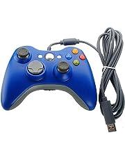 Xbox 360 Controller, Stoga Kabelgebundene USB Gamepad Controller für Microsoft Xbox 360 PC Windows7/8/8.1/10 (blau)