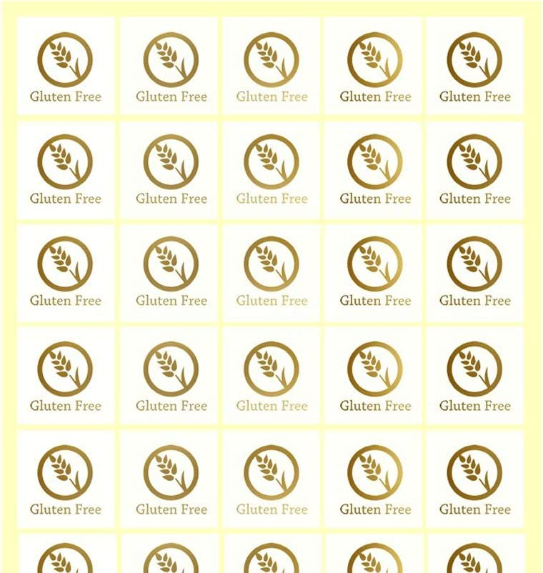 Savor The Memories Meal Stickers for Place Cards (Gold or Black) (Clear with Gold Icon, Gluten Free)