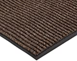 NoTrax 109S0023BR 109 Brush Step Entrance Mat, for Lobbies and Indoor Entranceways, 2' Width x 3' Length x 3/8'' Thickness, Brown
