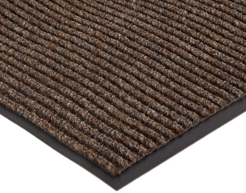 NoTrax 109 Brush Step Entrance Mat, for Lobbies and Indoor Entranceways, 2′ Width x 3′ Length x 3/8″ Thickness, Brown