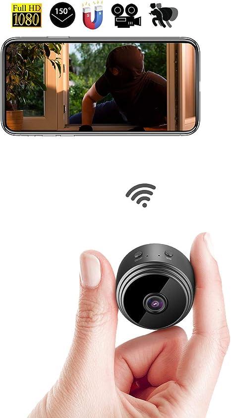 HONGHUIYU WiFi Mini Spy Cámara Oculta Cámara IP inalámbrica HD ...
