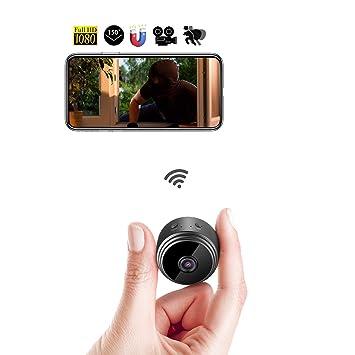 AOSHE Cámara espía WiFi Mini cámara Oculta 1080P HD portátil videocámara grabadora de vídeo para Interior al Aire Libre vigilancia de la Seguridad del hogar ...