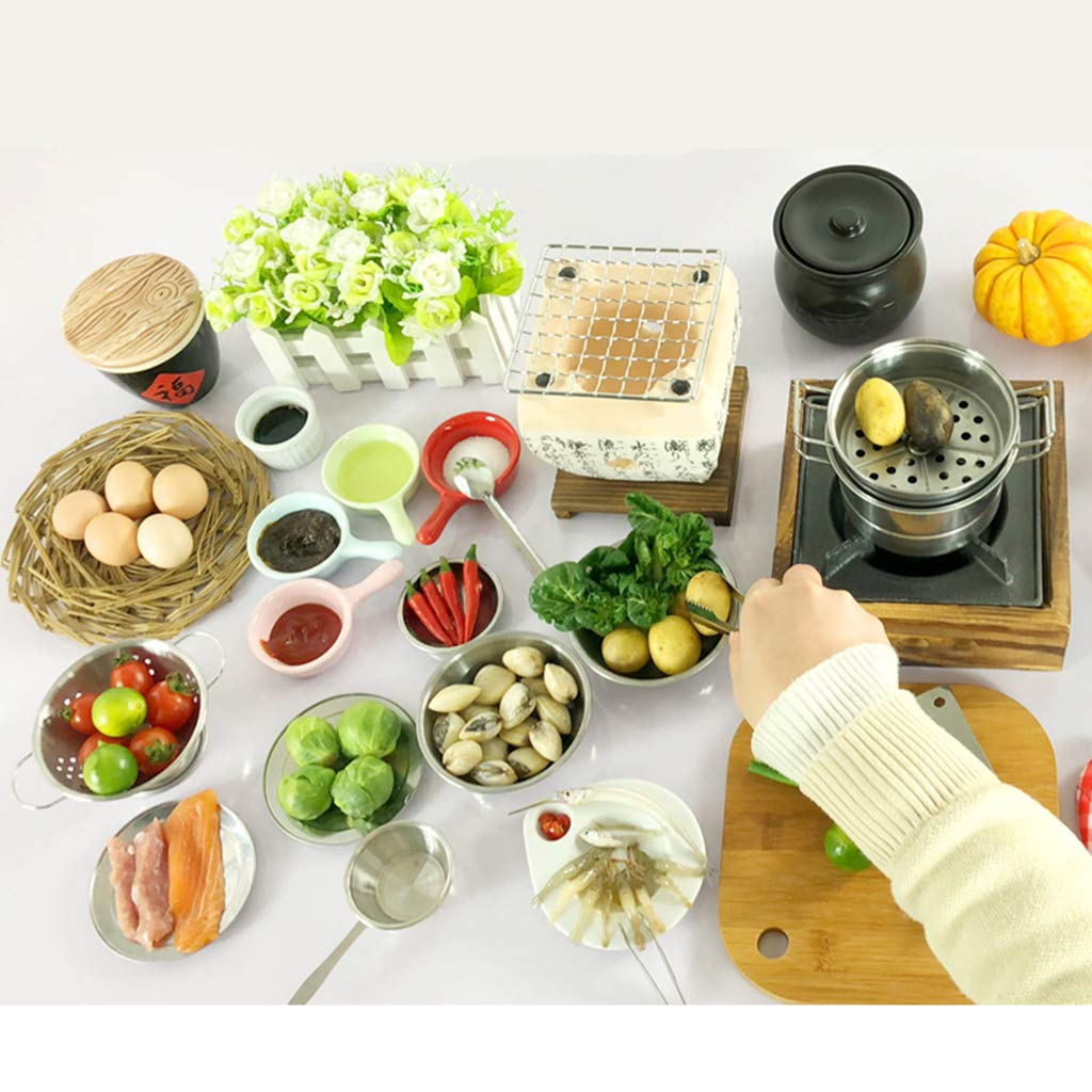 Buy miniature japanese food play kitchen real cooking utensils stove chopping board pan set kids pretend playing toy 15pcs online at low prices in india