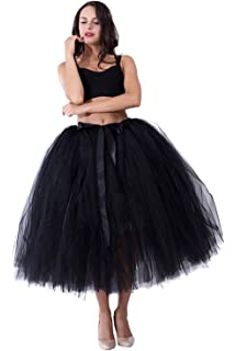 96acedc055450 kephy Handmade Adult Tutu Tulle Skirt for Women 31.5 Inch Long Photography  Wedding Party Skirts