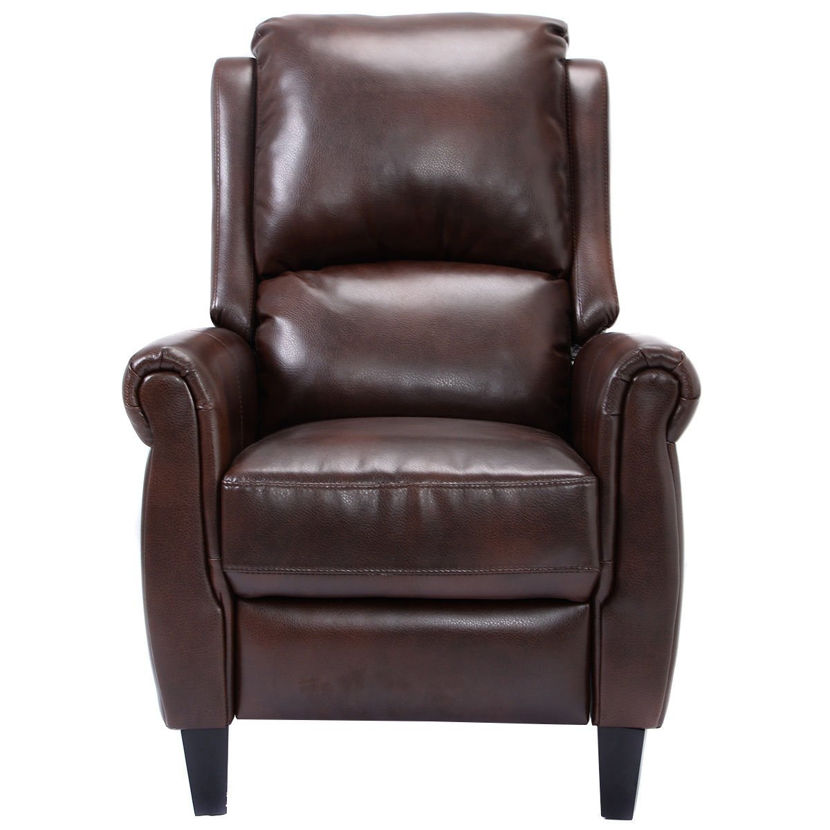 Amazon.com Giantex PU Leather Recliner Chair Push Back Club Living Room Seat Furniture w/Footrest (Brown) Kitchen \u0026 Dining  sc 1 st  Amazon.com & Amazon.com: Giantex PU Leather Recliner Chair Push Back Club ... islam-shia.org