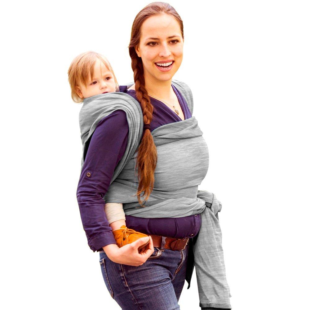 Porte Bébé écharpe de portage pour Bébé - Transporter le Bébé - Coton et  élasthanne - GRIS - 0 à 18 mois - Baby Carrier LightWeight Baby Sling - Baby  Wrap ... a52c2cc7d2c