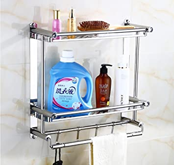 Bathroom Rack Badezimmer glasregal Bad Regal/Glas Wand Wc Lagerregal ...