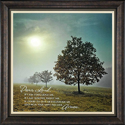 Lost Lead Me Wrong Right Me Trees 34 x 34 Inch Wood Framed Wall Plaque