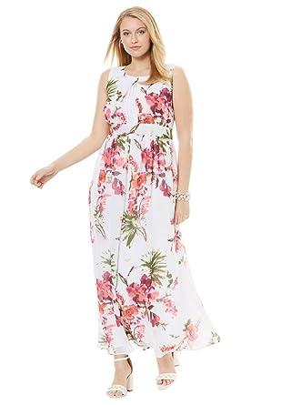 Jessica London Womens Plus Size Pleated Empire Dress At Amazon