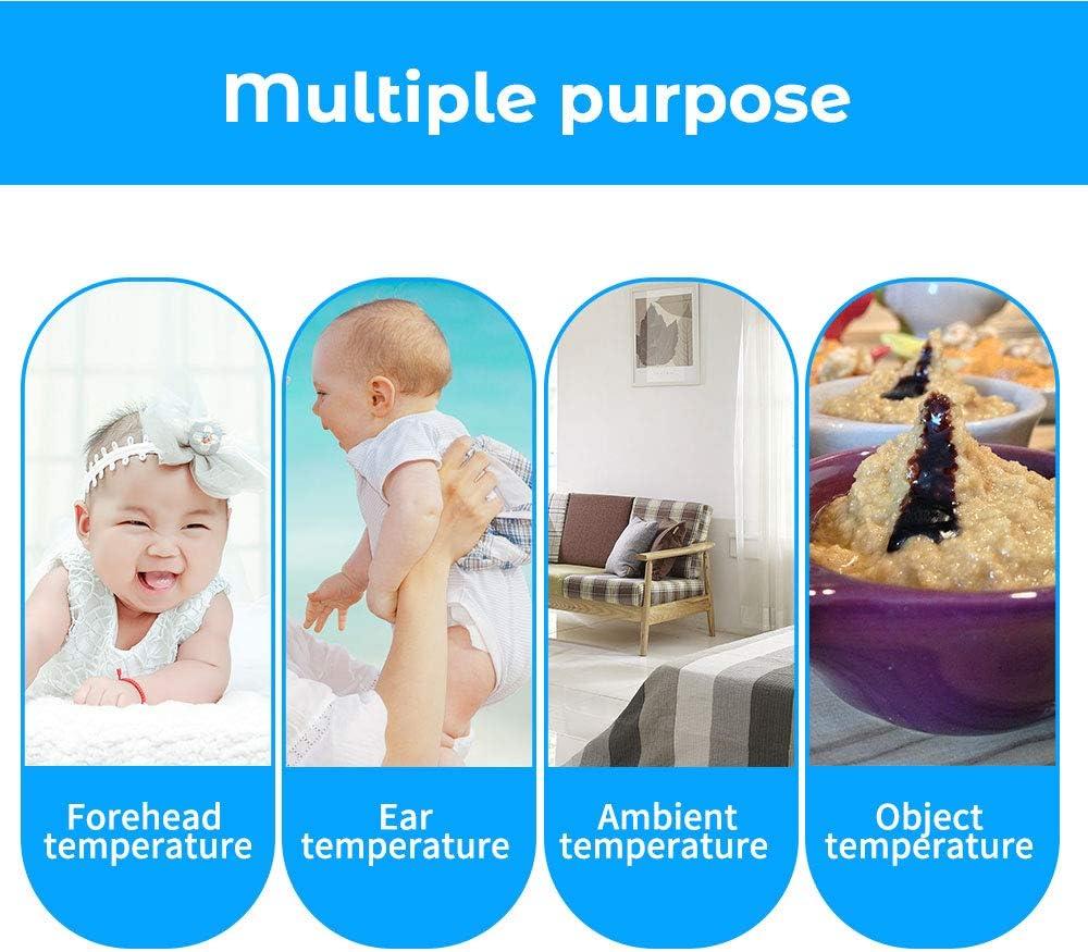 Fesjoy Digital IR Infrarot K/örper Fieber Thermometer Erwachsenen Kinder Stirn und Ohr Thermometer f/ür Baby Kinder und Erwachsene IR-Pyrometer