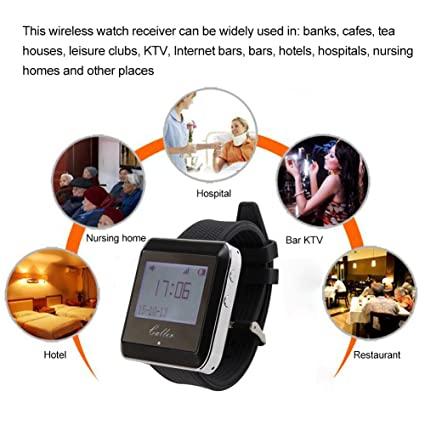 433 MHz Wireless Watch Receptor Internet Bar Beeper llano ...