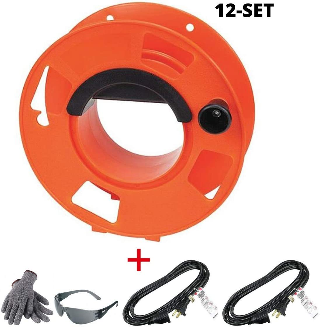100-Feet 4-Pack KW-110 Cord Storage Reel with Center Spin Handle